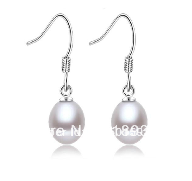 2014New Fashion Natural Pearl Drop Earring &amp;S925 Sterling Silver Eardrop Jewelry Mother Day Gift Wholesale High Quality <br><br>Aliexpress