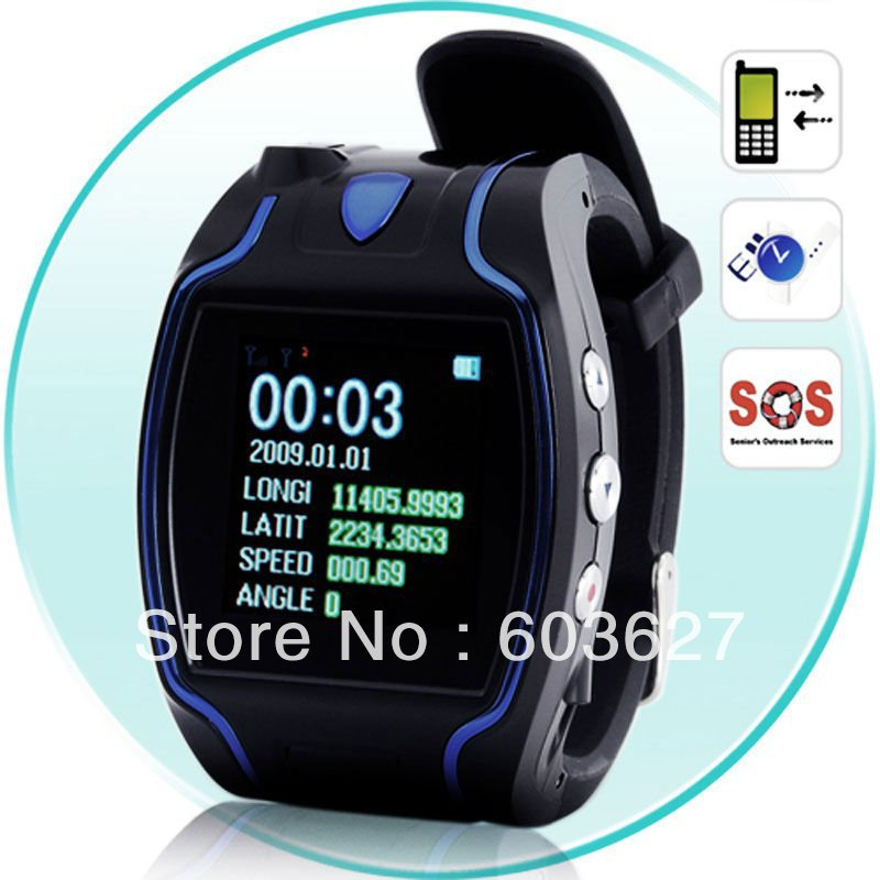New free shipping 1.5 inch LCD display gps watch tracker protecting child/the old/the disabled/pet KW621
