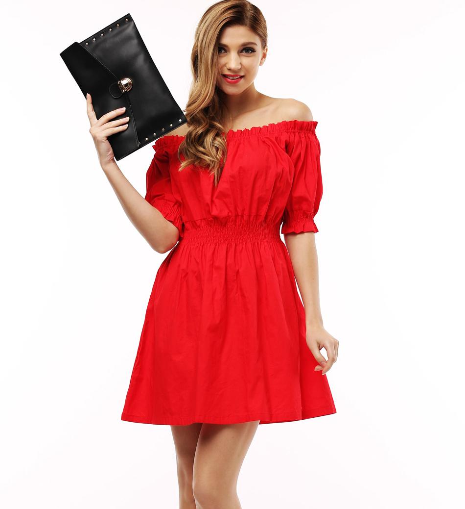 100% cotton New 2017 Autumn summer Women Dress short Sleeve Casual plus size Dresses Vestidos WC0380(China (Mainland))