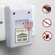 2015New Hot White High Quality Ultrasonic Riddex Plus Electronic Pest Rodent Repeller 220V(China (Mainland))