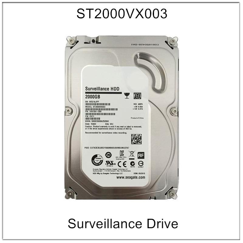 Seagate 2TB Desktop HDD SATA 6Gb/s 64MB Cache 3.5-Inch Internal Bare Drive with Surveillance 2000GB HDD Hard Drive ST2000VX003(China (Mainland))