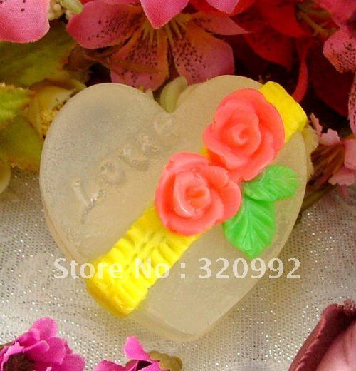 3D DIY heart-shaped Silicone mold Chocolate cake decoration candy mold soap mould baking mold