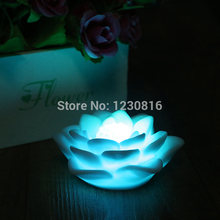 Romantic Lotus Flower Night light Color Changing Lotus Flower LED Night Light Romantic Love Mood Lamp Decoration Free Shipping(China (Mainland))