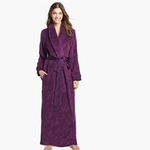 Unisex Women and Men Couples Ultra Long Ultra Thick Carved Velvet Fur Big Size Full Length Robe Bathrobe Sleepwear Lounge Robe(China (Mainland))