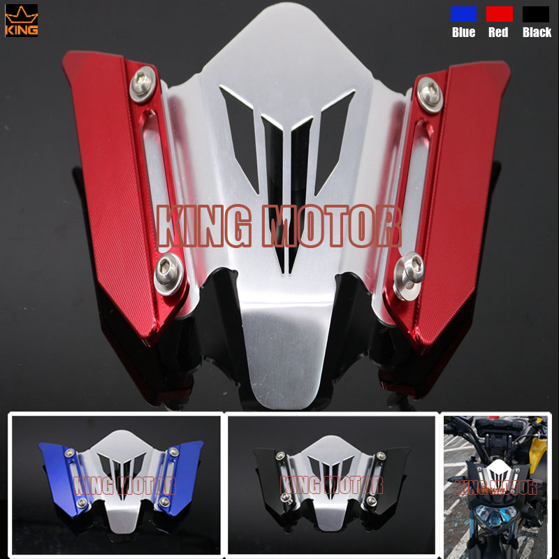Hot Sale Motorcycle Accessories CNC Windscreen Windshield Mounting Bracket Red For YAMAHA MT07 FZ07 MT-07 FZ-07 2014-2016(China (Mainland))