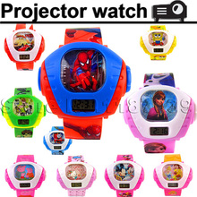 3D led digital projector cartoon watch children kids wristwatch boys girls clock child gift famous brand shape image projection(China (Mainland))