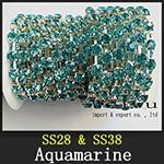 Rhinestone Chain Aquamarine xzs002