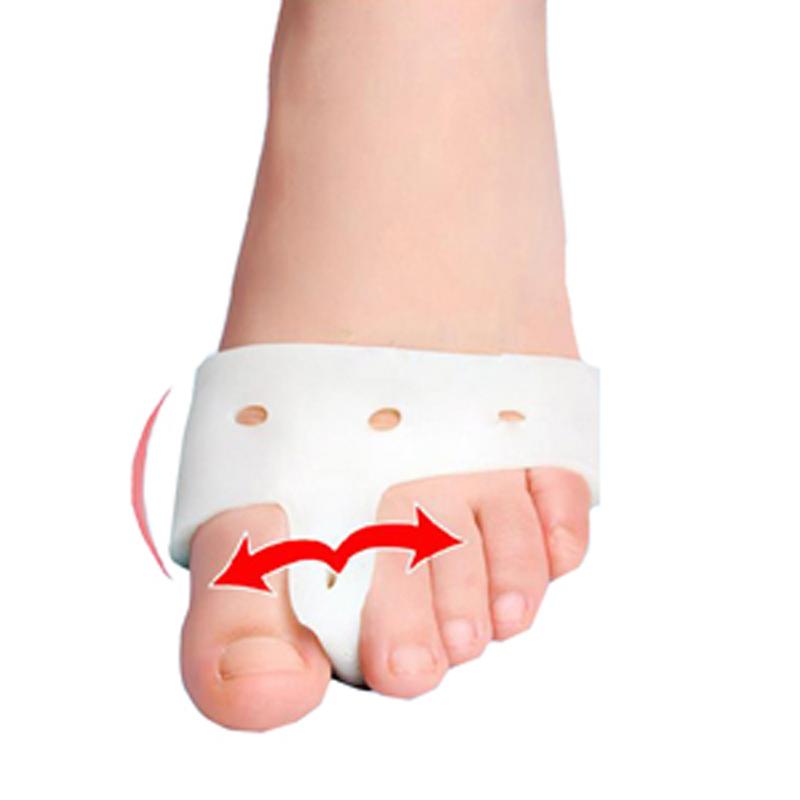 1 Pair Silicon Gel Foot Corrector Toe Separator Thumb Valgus Protector Bunion Adjuster Hallux Valgus Guard Feet Care For Bunions(China (Mainland))