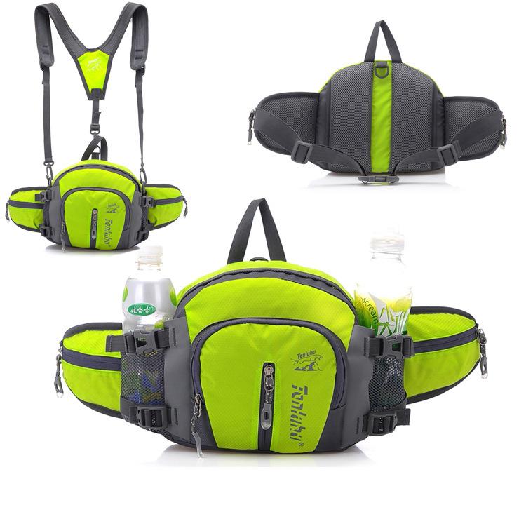 Multifunction Outdoor Backpack Waterproof Nylon 7 Colors Men Travel Sport Waist Bags Mountaineering Bag Hiking Camping Rucksack(China (Mainland))
