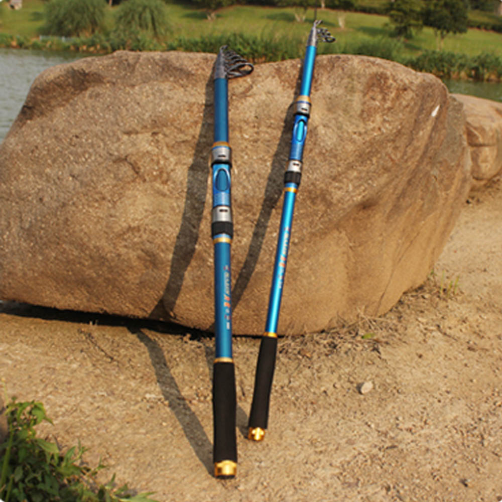 Portable fishing pole accessories 2 1m telescopic for Compact fishing pole