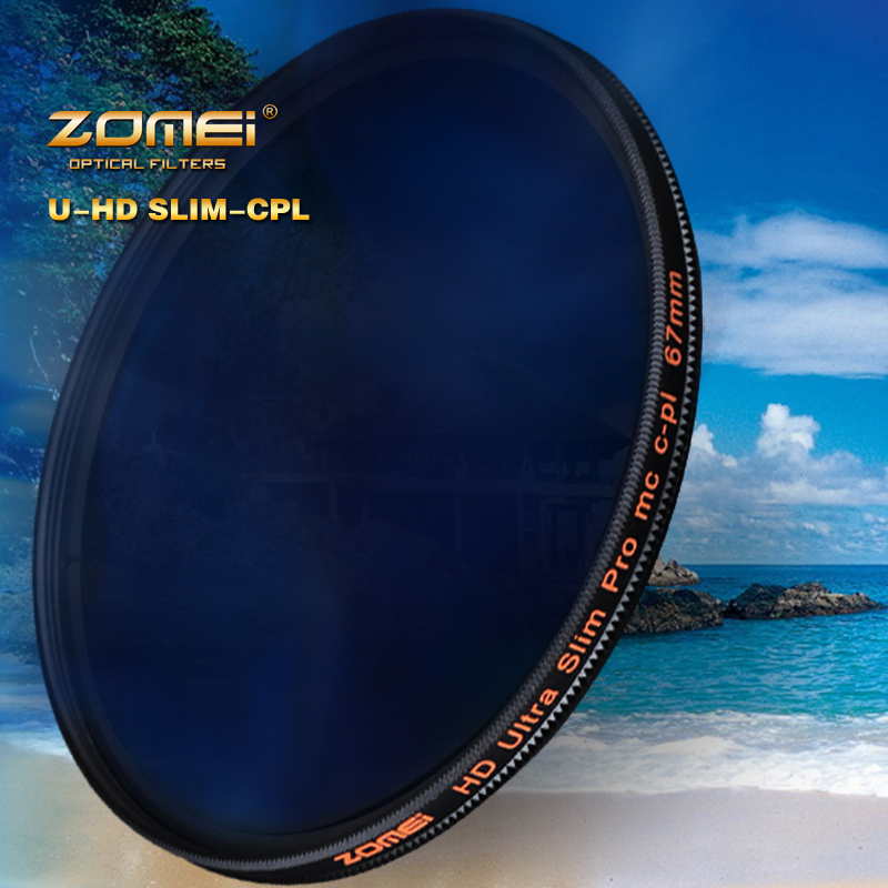 ZOMEI 52mm HD Slim Circular PL CIR-PL Polarizer Filter High Definition CPL For Nikon D5300 D5200 D5100 D3300 D3200 D3100(China (Mainland))
