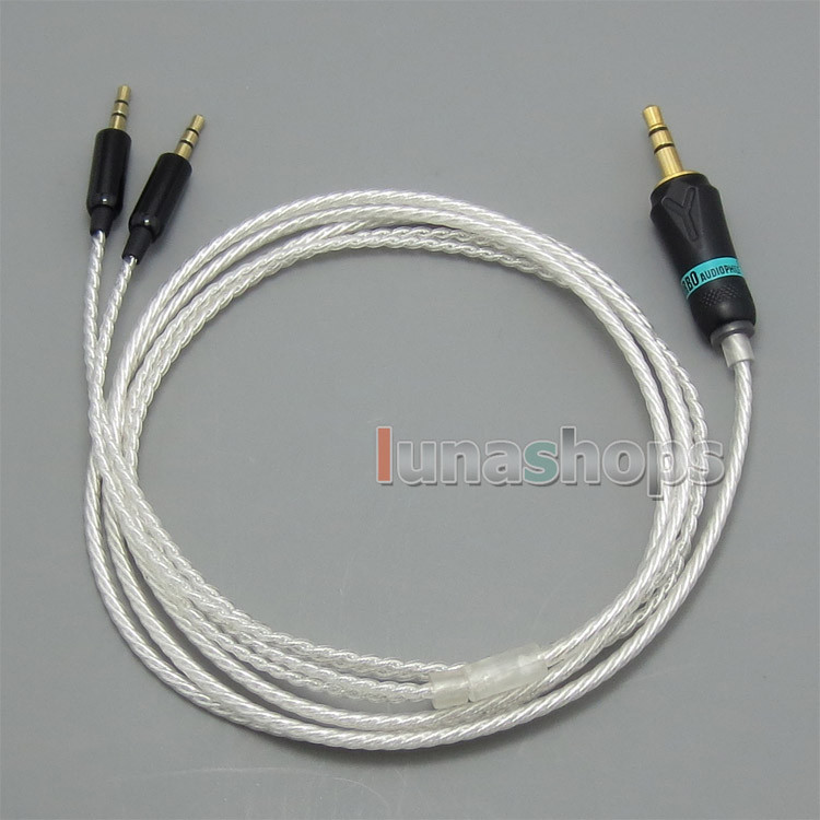 Silver plated + OCC 0.5m 1.3m 1.8m 2.5m Cable For Sol Republic Master Tracks HD V8 V10 V12 X3 Headphone LN004788