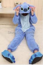 Синий стежка Onesies пижамы мультфильм животных косплей пижама для взрослых Onesies костюм ну вечеринку платье хэллоуин pijamas