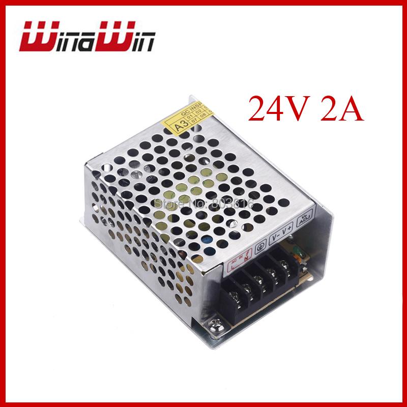 Гаджет  AC 100V-240V to DC 24V 2A 48W Voltage Transformer Switch Power Supply for Led Strip light None Свет и освещение