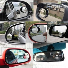 Free Shipping NEW Round Wide Angle Convex Blind Spot Mirror Rear View Messaging Car Vehicle BK(China (Mainland))