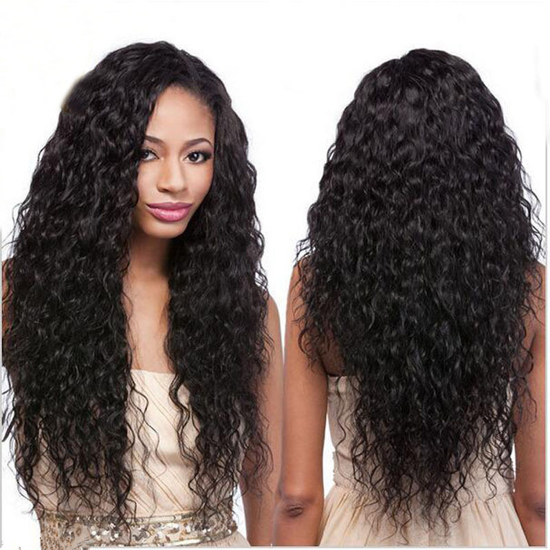 New texture brazilian curly human hair front lace wigs &amp; glueless full lace wig for black women  130%natural color free shipping<br><br>Aliexpress