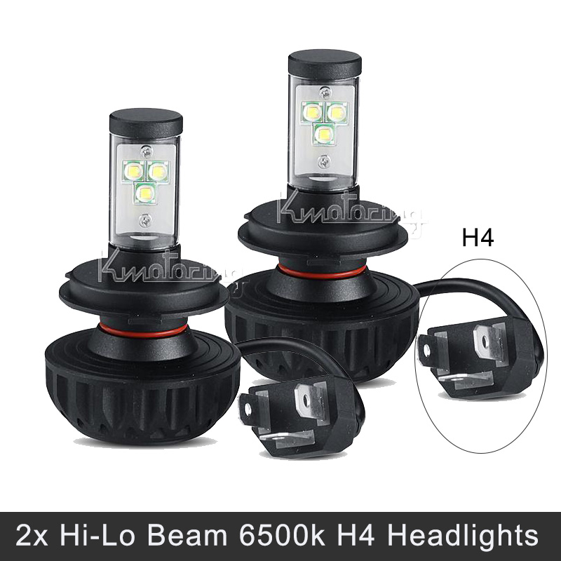 H4 CREE Hi-Lo beam LED headlight bulbs 40W low beam 60W high beam 3000K-10000K 180 degree beam angle fog lamp 12v 24v vehicles(China (Mainland))