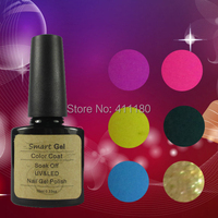 2015 New Brand Smart Gel Soak Off UV/LED Nail Gel Polish For Salon Nail Gel Total 343 Colors Free Shipping 8Pcs/lot