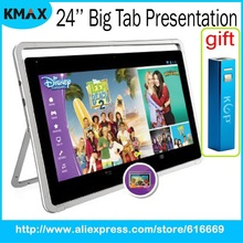 "Nabi Big Tab 24"" Tablet PC Capacitive Tablets Multi-Touch Display Tablette Wide Viewing Angle 1.3MP Camera free shipping"