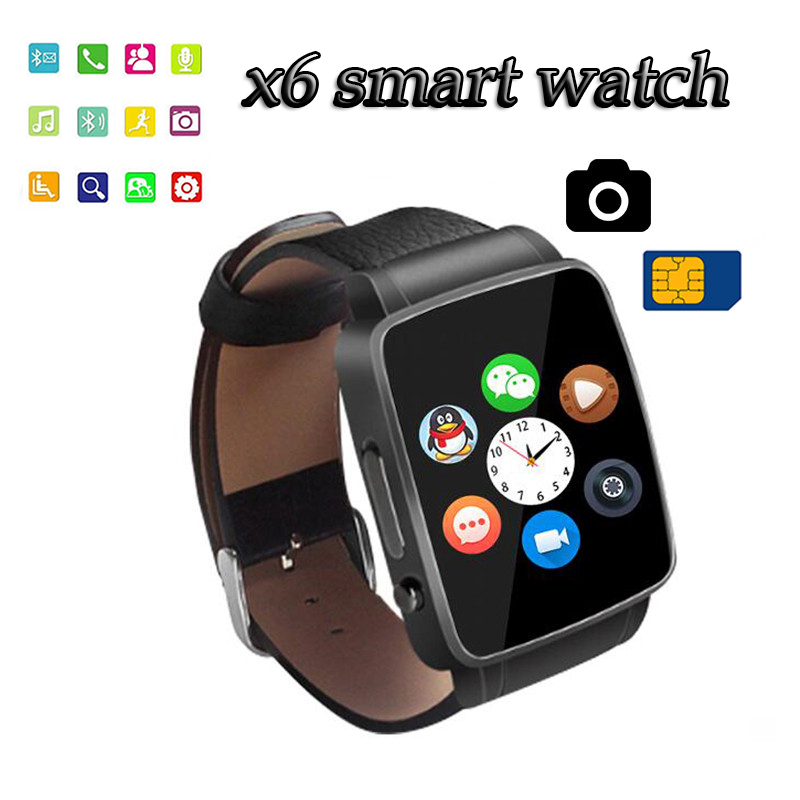 Smartwatch Bluetooth sim card camera Smart Watch x6 WristWatch digital sport watches for IOS Android phone wrist watch for men(China (Mainland))