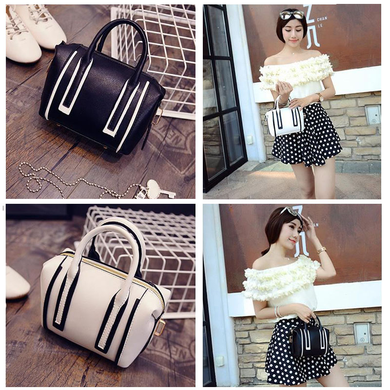 Hot Women Single Shoulder Bag Casual PU Leather Summer Handbag Chain Purse Satchel White Messenger Bag(China (Mainland))
