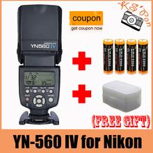 Buy Yongnuo YN-560 IV Flash Speedlite Nikon D700,D300s,D300,D200,D100,D90,D80,D7100,D7000,D5100,D5000,D3100,D3000,D60,D800,D600 for $71.50 in AliExpress store