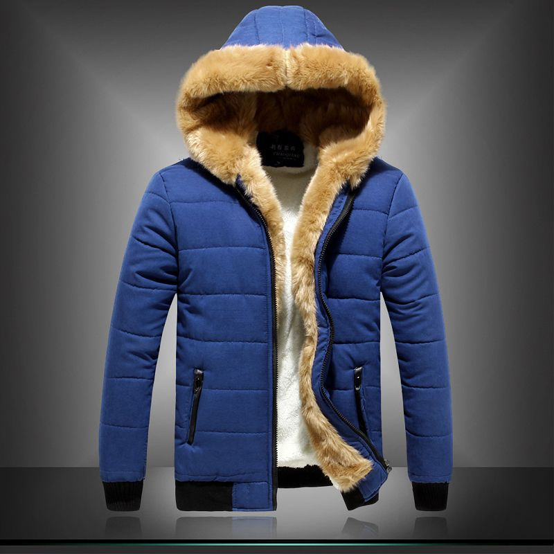 Fur lined hoodie men