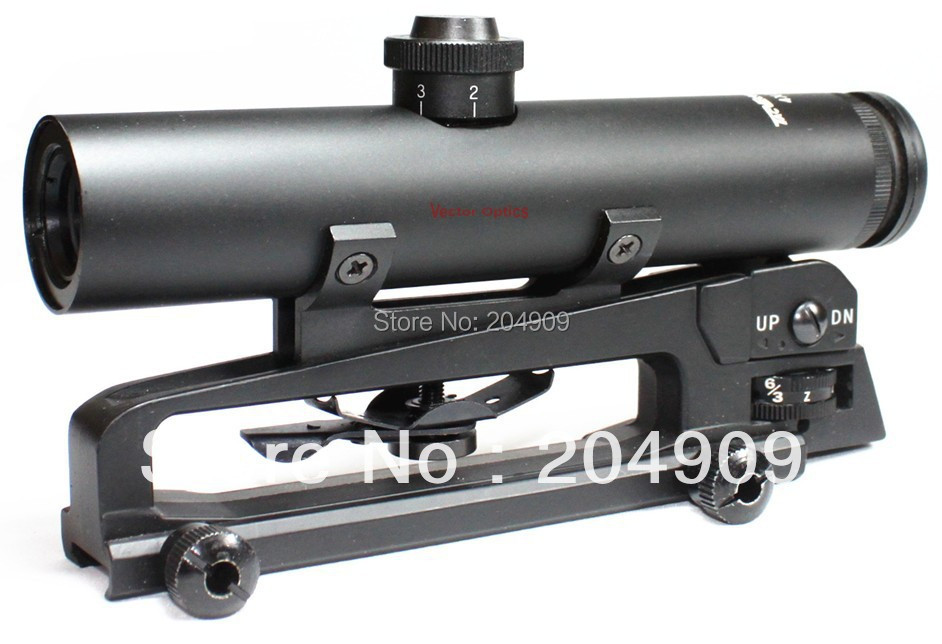 Vector Optics Tactical 4x22 Carry Handle Compact Rifle Scope Shock Proof Electro GunSight fit M(China (Mainland))