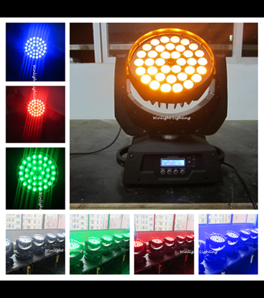 New Arrival ( 4 pcs / lot ) Free Shipping 6 in 1 RGBWAP 36*15W Led Moving Head Zoom DJ Lighting Moving Head Wash Zoom Light(China (Mainland))