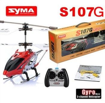 Hot Sale Syma Series 107G S107 GYRO 3CH Infrared Remote Control RC Indoor Mini Helicopter RTF