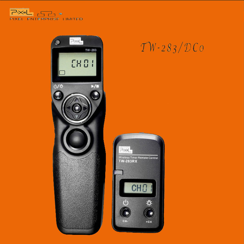 Pixel TW-283/DC0 Wireless camera Shutter Release Remote Timer Control For Nikon D800 D700 D300 D2 Fujifilm S5 Pro S3 Pro(China (Mainland))