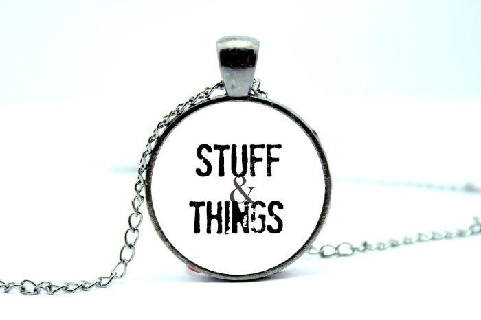10 pcs/lote Stuff et collier choses Walking Dead bijoux Zombie bijoux bijoux Charms Gunmetal