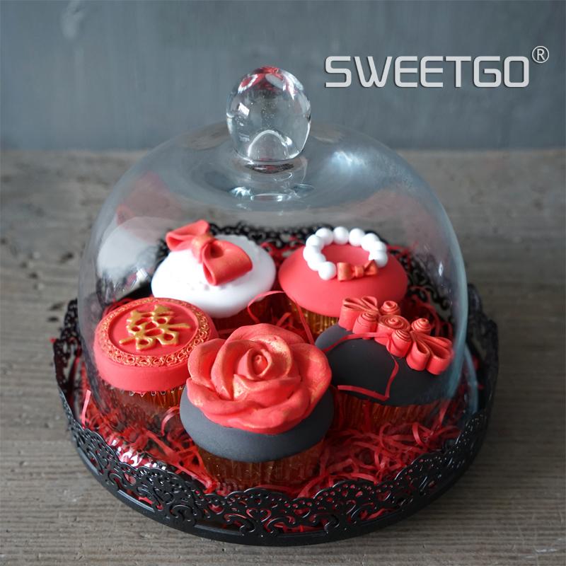 Online kaufen gro handel glas tortenplatte aus china glas for Kuchen glasplatte