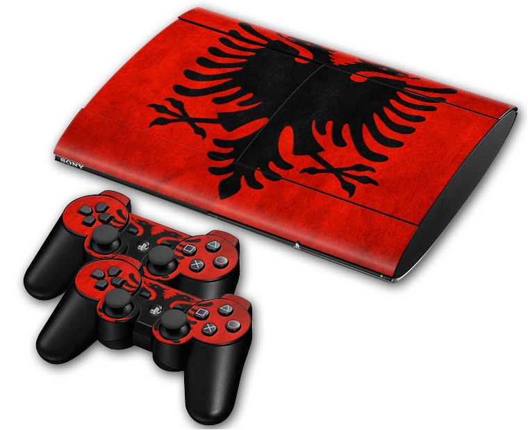 Vinyl Decal Skin Sticker for PS3 Super Slim for PS3 Slim 4000 + 2 Controller Skins Football Team LOGO(China (Mainland))
