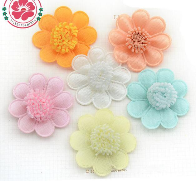 500pcs/lot DIY floral 37mm for clothing/hats/hairpins/headare accessories rose flower china supplier wholesale free shipping(China (Mainland))