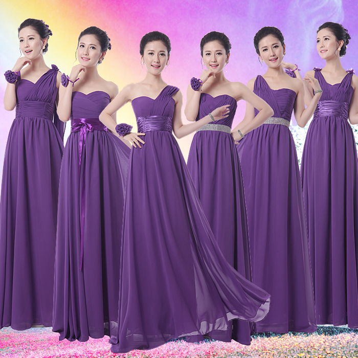 Cool wedding dresses for young: Bridesmaid long dresses 2014