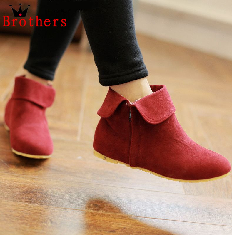 AISIMI wholesale women boots flat heels ankle boots fashion casual autumn winter motorcycle boots woman shoes size 34-43<br><br>Aliexpress