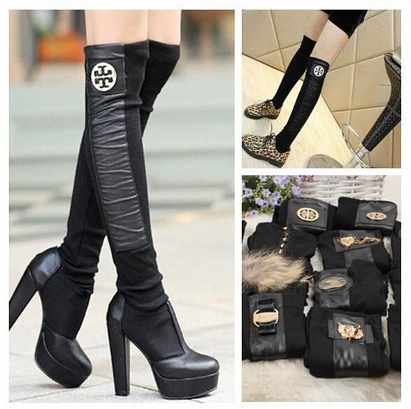 cheap high quality leg warmers wholesale cotton women/girl fashion boot knee-socks(China (Mainland))
