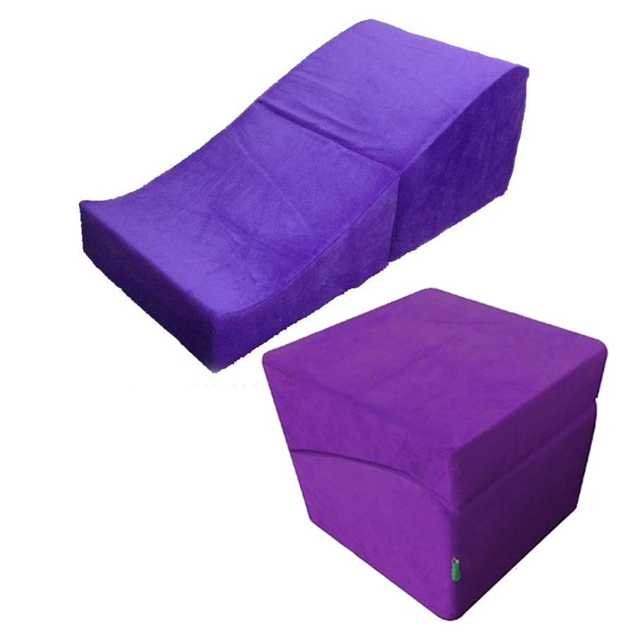 Promotion Sponge Pad Flip Ramp Foldable Sex Wedge Chair Sex Pillows Adult Couples Different Postures auxiliary Furniture Product(China (Mainland))