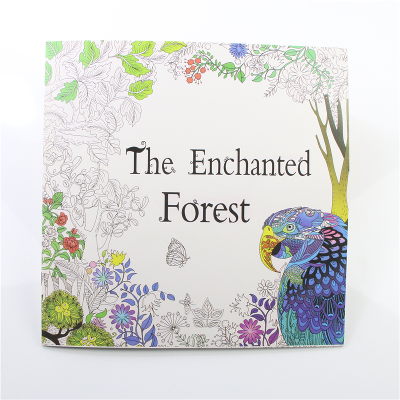 The Enchanted Forest 24 Pages English Edition Coloring Book For Adult Relieve Stress Kill Time Graffiti Painting Drawing Book(China (Mainland))