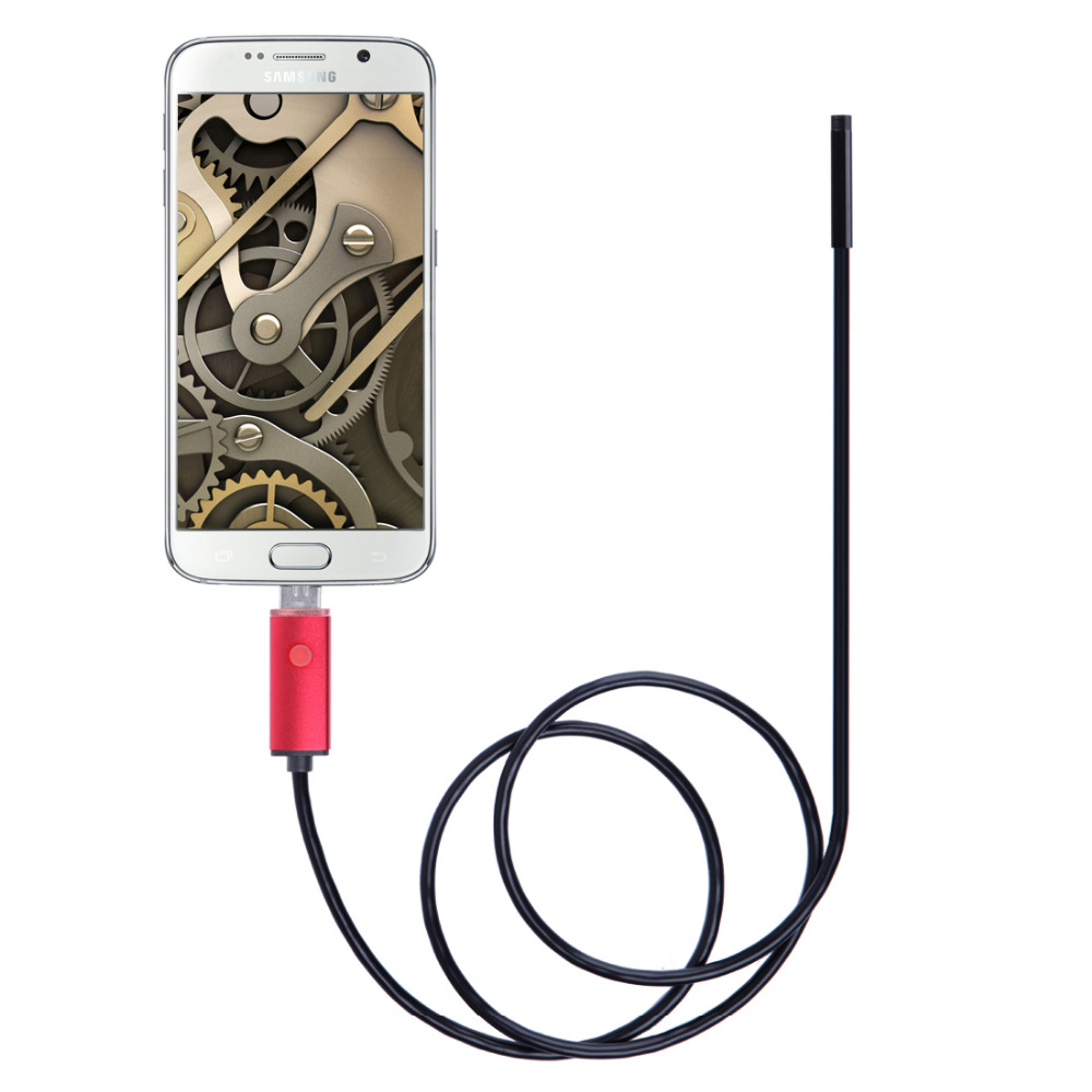 2M 2 in 1 Micro USB Borescope Car Endoscope 5.5mm Lens Waterproof Inspection Camera for Laptops USB Android Smartphones Samsung(China (Mainland))