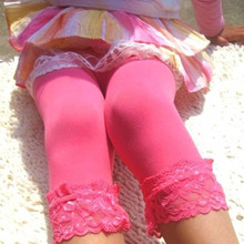 Toddler Kids Girls Lace Velvet Legging Pantyhose Stocking Pant 5-9Y(China (Mainland))