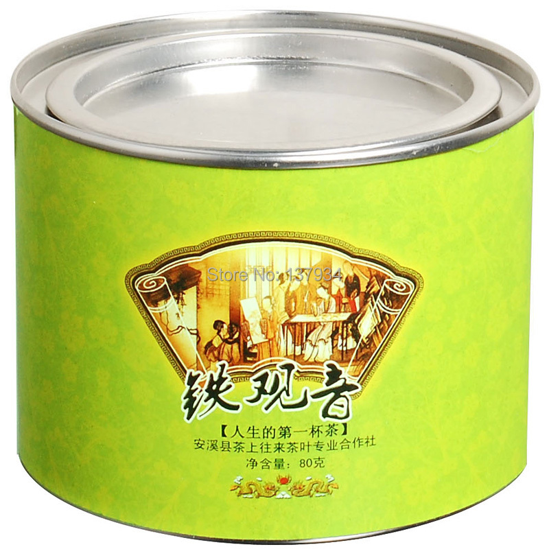 Free Shipping 80g China Anxi Tieguanyin Oolong Tea Natural Organic Health Green tea Tie with gift