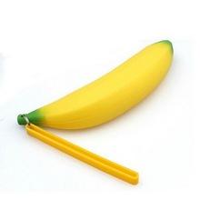 New Fashion Banana Coin Pencil Case Girls Novelty Men Women Silicone Portable Purse Bag Wallet Unisex Pouch Keyring