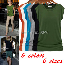 2015 Fashion Big Size Summer Style S-3XL Slim t shirt Women Tops & Tees Casual Solid T-shirt European and American Cloth()