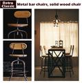 Vintage metal bar chair lift 100 wooden bar stool chair anti rust treatment wood Stool metal