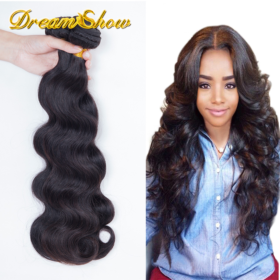 Prom Queen Hair Products Brazilian Virgin Hair Body Wave 3PCS Lot 100% Human Hair Weaves Brazilian Body Wave Hair Extensions