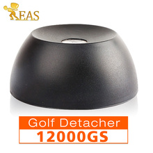 Super golf separatore intensità magnetica 12000gs security hard tag separatore 12000gs eas tag remover materiale plastico di colore nero(China (Mainland))