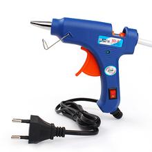 ЕС Plug Пистолетного Де Кола quente Для DIY Профессиональный Высокая Температура нагреватель 20 Вт Термоклей Пистолет С 1 шт. Клей-Карандаш # KF