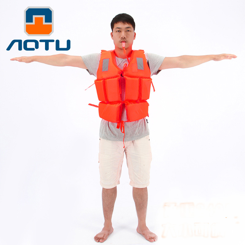 Professional Life Jacket Swimwear Polyester Life Vest with Lifesaving whistle for Water Sports Swimming Drifting Surfing 120KG(China (Mainland))